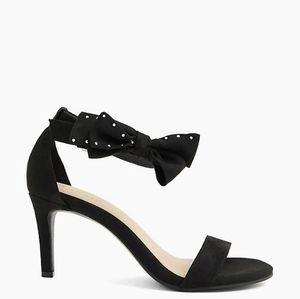 Torrid Faux Suede Ankle Bow Stiletto Heel